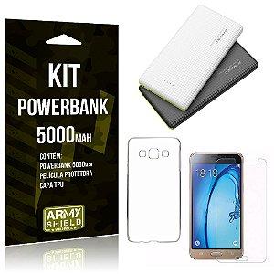 Kit Powerbank 5000 Samsung Galaxy J3 Prime Powerbank + Película + Capa  - Armyshield