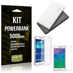 Kit Powerbank 5000 Samsung Galaxy J5 (2015) Powerbank + Película + Capa  - Armyshield