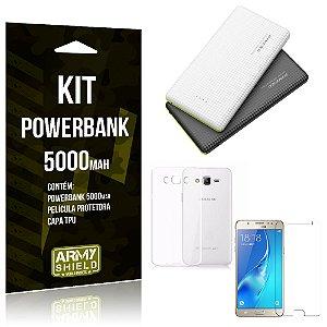 Kit Powerbank 5000 Samsung Galaxy J7 (2016) Powerbank + Película + Capa  - Armyshield