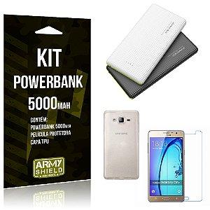 Kit Powerbank 5000 Samsung Galaxy On 7 Powerbank + Película + Capa  - Armyshield