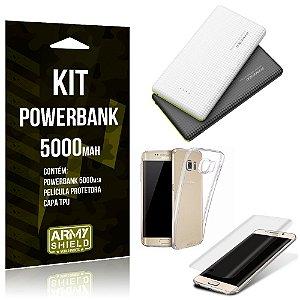 Kit Powerbank 5000 Samsung Galaxy S7 Edge Powerbank + Película + Capa  - Armyshield
