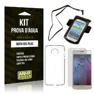 Kit Capa a prova d'agua Motorola Moto G5S Plus Película + Tpu + Capa a prova d'agua - Armyshield