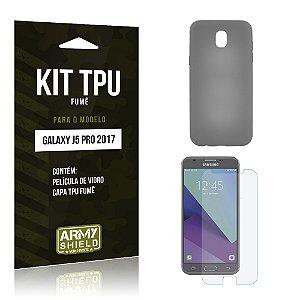 Kit TPU Fumê Samsung Galaxy J5 Pro (2017) Película de Vidro + TPU Fumê - Armyshield