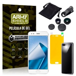 Kit Fisheye Asus Zenfone 4 ZE554KL 5.5 Lentes + Película + Capa - Armyshield