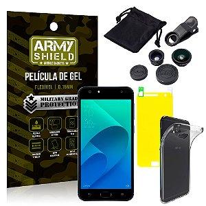 Kit Fisheye Asus Zenfone 4 Selfie ZD553KL 5.5 Lentes + Película + Capa - Armyshield