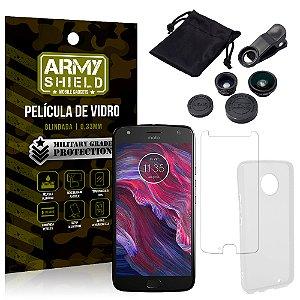 Kit Fisheye Motorola Moto X4 XT1900 5.2 Lentes + Película + Capa - Armyshield