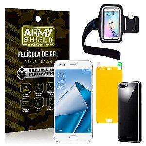 Kit Braçadeira Asus Zenfone 4 ZE554KL 5.5 Braçadeira + Película + Capa - Armyshield