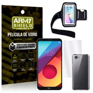 Kit Braçadeira LG Q6 / Q6 Plus M700TV 5.5 Braçadeira + Película + Capa - Armyshield