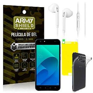 Kit Fone de Ouvido Asus Zenfone 4 Selfie ZD553KL 5.5 Fone + Película + Capa - Armyshield