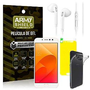 Kit Fone de Ouvido Asus Zenfone 4 Selfie Pro ZD552KL 5.5 Fone + Película + Capa - Armyshield