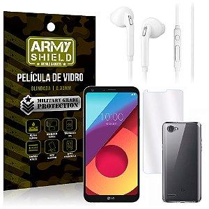 Kit Fone de Ouvido LG Q6 / Q6 Plus M700TV 5.5 Fone + Película + Capa - Armyshield