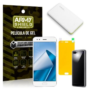 Kit Powerbank Asus Zenfone 4 ZE554KL 5.5 Powerbank + Película + Capa - Armyshield