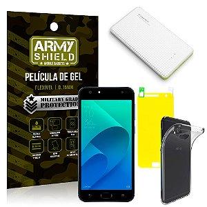 Kit Powerbank Asus Zenfone 4 Selfie ZD553KL 5.5 Powerbank + Película + Capa - Armyshield