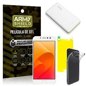 Kit Powerbank Asus Zenfone 4 Selfie Pro ZD552KL 5.5 Powerbank + Película + Capa - Armyshield
