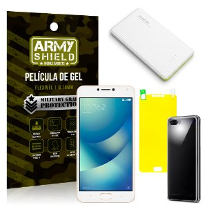 Kit Powerbank Asus Zenfone 4 Max ZC554KL 5.5 Powerbank + Película + Capa - Armyshield