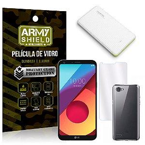 Kit Powerbank LG Q6 / Q6 Plus M700TV 5.5 Powerbank + Película + Capa - Armyshield