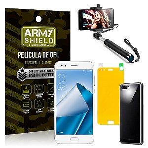 Kit Bastão Selfie Asus Zenfone 4 ZE554KL 5.5 Bastão + Película + Capa - Armyshield