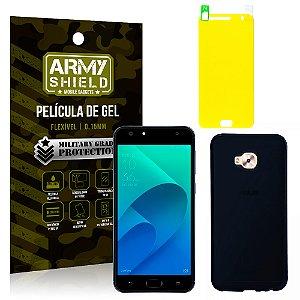 Kit Capa Fumê Asus Zenfone 4 Selfie ZD553KL 5.5 Película + Capa Fumê - Armyshield