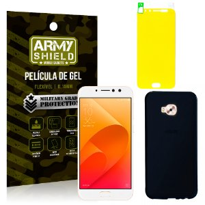 Kit Capa Fumê Asus Zenfone 4 Selfie Pro ZD552KL 5.5 Película + Capa Fumê - Armyshield