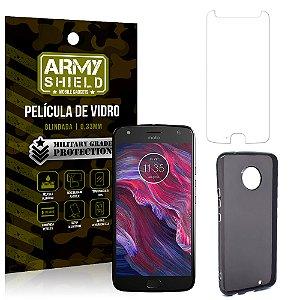 Kit Capa Fumê Motorola Moto X4 XT1900 5.2 Película + Capa Fumê - Armyshield
