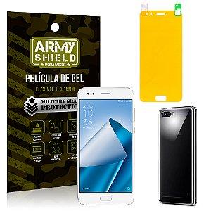 Kit Capa Silicone Asus Zenfone 4 ZE554KL 5.5 Película + Capa - Armyshield