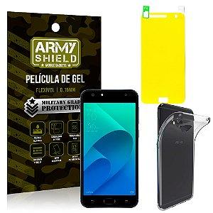 Kit Capa Silicone Asus Zenfone 4 Selfie ZD553KL 5.5 Película + Capa - Armyshield