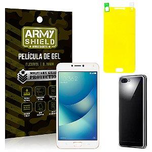 Kit Capa Silicone Asus Zenfone 4 Max ZC554KL 5.5 Película + Capa - Armyshield