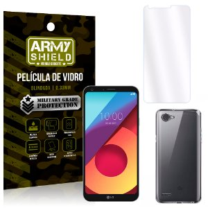 Kit Capa Silicone LG Q6 / Q6 Plus M700TV 5.5 Película + Capa - Armyshield