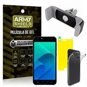 Kit Suporte Veicular Asus Zenfone 4 Selfie ZD553KL 5.5 Suporte + Película + Capa - Armyshield