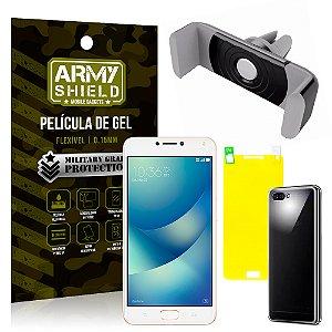 Kit Suporte Veicular Asus Zenfone 4 Max ZC554KL 5.5 Suporte + Película + Capa - Armyshield