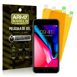 Kit 2 Películas de Gel Apple iPhone 8 - Armyshield