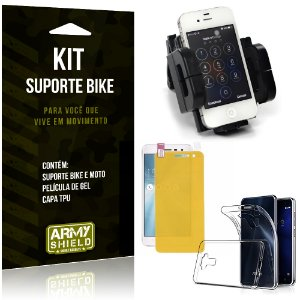 Kit Suporte Moto Bike Asus Zenfone 3 - 5.2' ZE520KL Suporte + Película + Capa - Armyshield