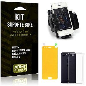 Kit Suporte Moto Bike Asus Zenfone 4 - 5.5' ZE554KL Suporte + Película + Capa - Armyshield