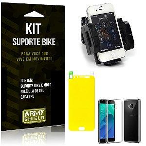 Kit Suporte Moto Bike Asus Zenfone 4 Selfie Pro - 5.5' ZD552KL Suporte + Película +Capa - Armyshield