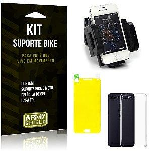 Kit Suporte Moto Bike Asus Zenfone 4 Max - 5.5' ZC554KL Suporte + Película + Capa - Armyshield