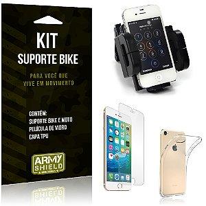Kit Suporte Moto Bike Apple iPhone 8 Suporte + Película + Capa - Armyshield