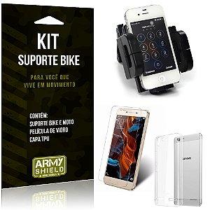Kit Suporte Moto Bike Lenovo K5 Suporte + Película + Capa - Armyshield