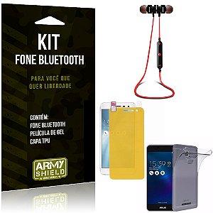 Kit Fone Bluetooth KD901 Asus Zenfone 3 Max - 5.2' ZC520TL Fone + Película + Capa - Armyshield