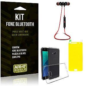 Kit Fone Bluetooth KD901 Asus Zenfone 4 Selfie - 5.5' ZD553KL Fone + Película + Capa - Armyshield