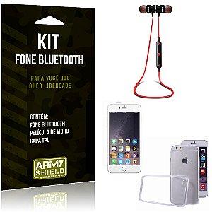 Kit Fone Bluetooth KD901 Apple iPhone 6 Plus - 6S Plus Fone + Película + Capa - Armyshield