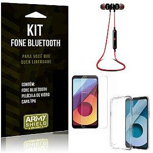 Kit Fone Bluetooth KD901 LG Q6 Plus Fone + Película + Capa - Armyshield