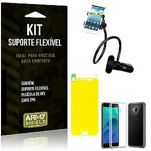 Kit Suporte Flexível Asus Zenfone 4 Selfie Pro - 5.2' ZD552KL Suporte + Película + Capa - Armyshield