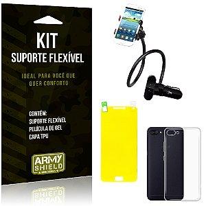 Kit Suporte Flexível Asus Zenfone 4 Max - 5.5' ZC554KL Suporte + Película + Capa - Armyshield