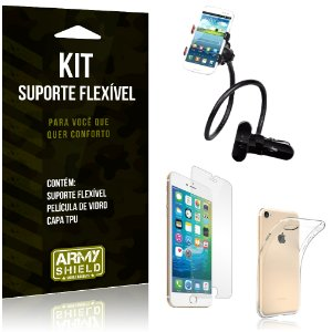 Kit Suporte Flexível Apple iPhone 8 Suporte + Película + Capa - Armyshield