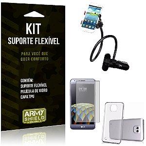 Kit Suporte Flexível LG X Cam Suporte + Película + Capa - Armyshield