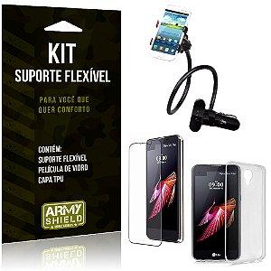 Kit Suporte Flexível LG X Screen Suporte + Película + Capa - Armyshield