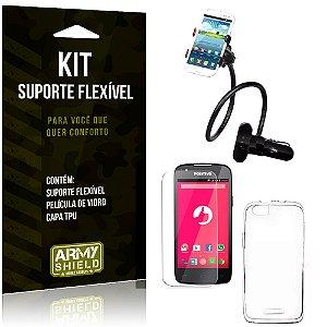 Kit Suporte Flexível Positivo S480 Suporte + Película + Capa - Armyshield