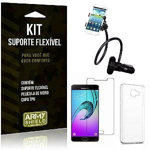 Kit Suporte Flexível Samsung Galaxy A5 (2016) Suporte + Película + Capa - Armyshield
