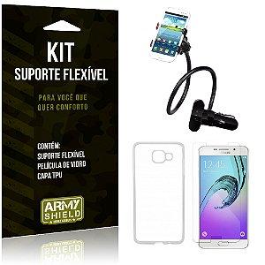 Kit Suporte Flexível Samsung Galaxy A7 (2016) Suporte + Película + Capa - Armyshield