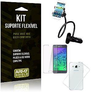 Kit Suporte Flexível Samsung Galaxy J5 (2015) Suporte + Película + Capa - Armyshield